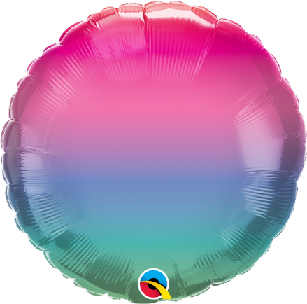 Round Shaped Jewel Ombre Foil Helium Balloon